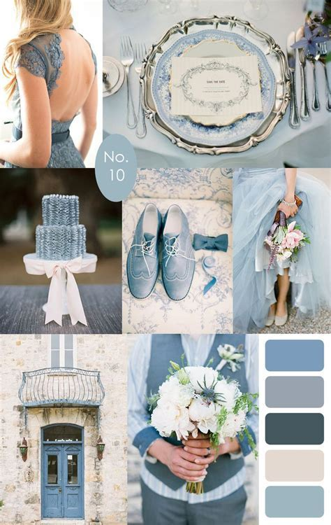 French Blue Wedding Color Palette Inspiration :: #