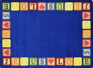 blocks of 169 sunday school rug 5 4 quot x 7 8 quot rectangle