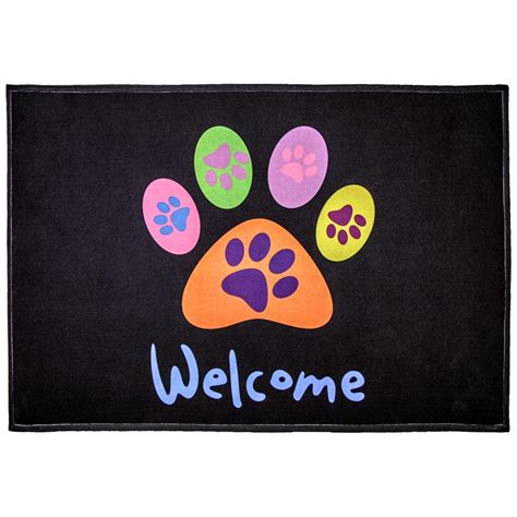 Paw Mat by All Paws Welcome Indoor Outdoor Mat The Animal Rescue Site