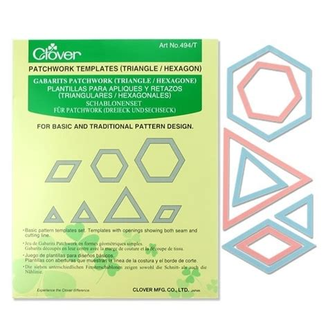 Clover Patchwork Templates - clover patchwork templates triangles hexagons