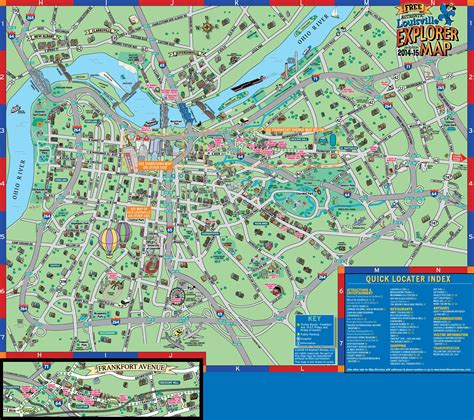 attractions in map maps update 31202770 louisville tourist attractions map