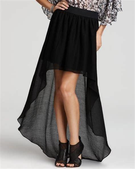 bcbgeneration skirt high low in black lyst