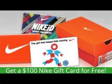 How To Get A Free Nike Gift Card - free 100 nike gift card get a 100 nike gift card for free youtube
