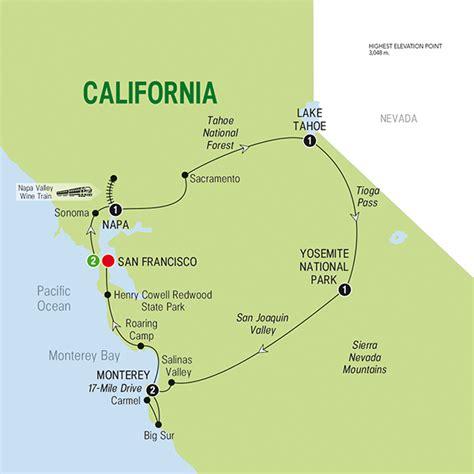 map san francisco to napa valley northern california
