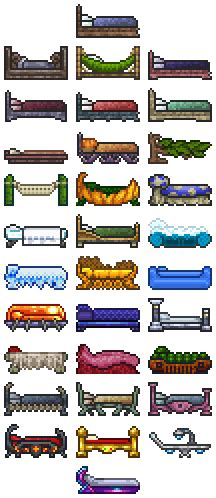 terraria bed bed official terraria wiki