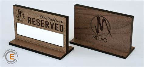 wooden reserved table signs thechefsemporium custom crafted wood accessories for the
