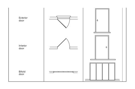 blueprint door symbol plan symbols