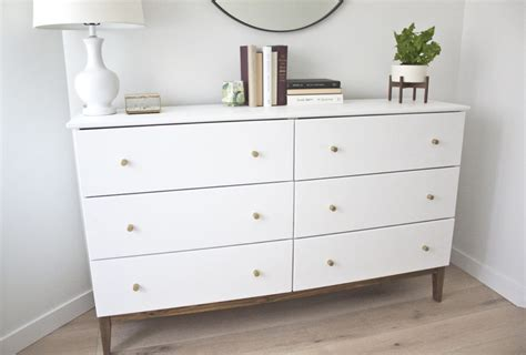 west elm modern white dresser modern white dresser a west elm inspired ikea hack