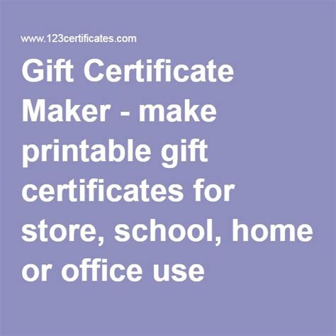 printable gift card maker 1000 ideas about printable gift certificates on pinterest