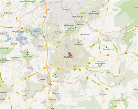 paderborn map paderborn map