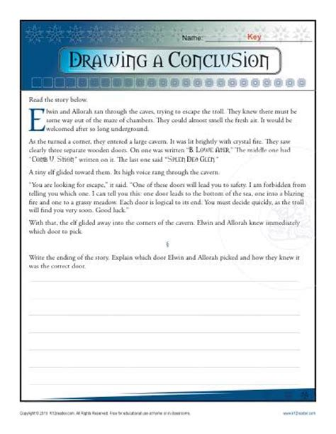 Drawing Conclusion Worksheets by Drawing A Conclusion Worksheets 5th Grade And Middle School