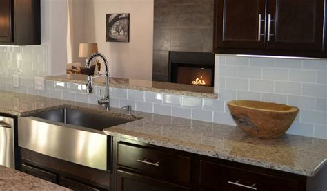 kitchen counter and glass backsplash glass tile backsplashes by subwaytileoutlet modern