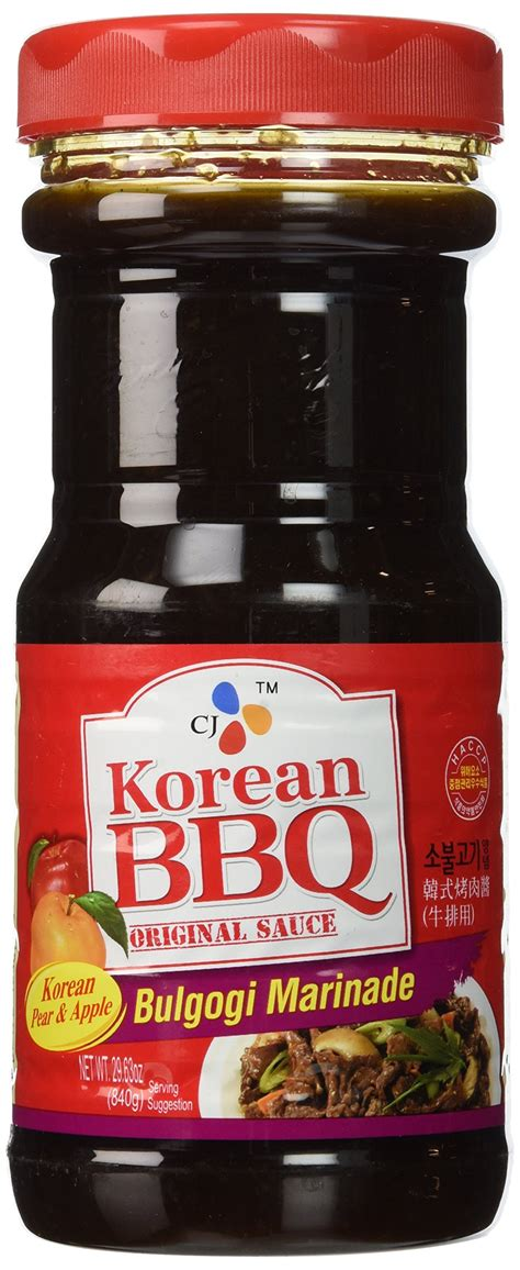 Cj Beef Bulgogi Marinade Bbq Sauce Beef cj korean bbq sauce kalbi 29 63 ounce bottles pack of 4 korean barbecue sauce