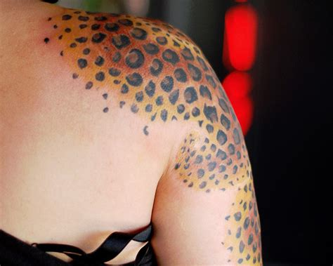 35 unbelievable leopard print tattoos creativefan