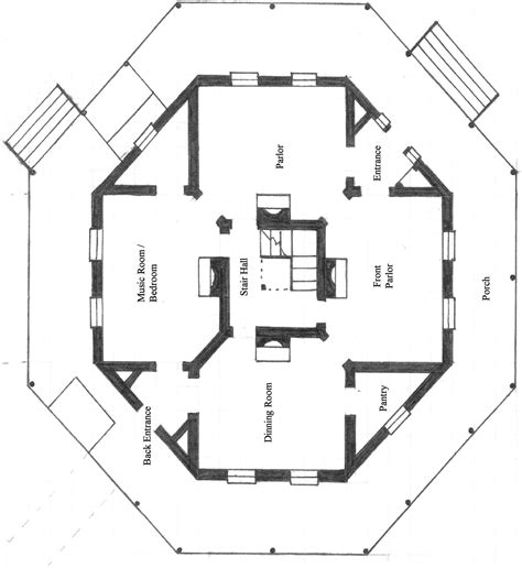 octagon house floor plans octagon house encyclopedia of alabama