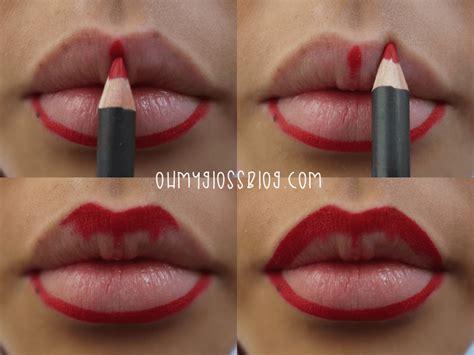 tutorial memakai lipstik bibir tebal make up bibir tebal saubhaya makeup