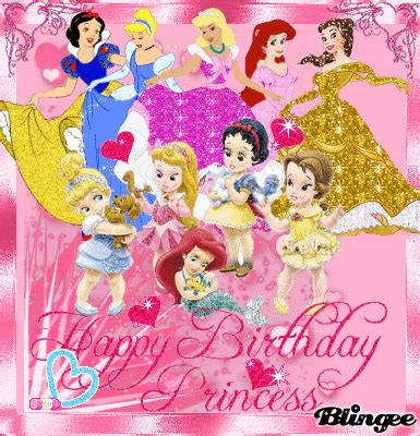 Happy Birthday Wishes Princess Happy Birthday Princess Picture 125081484 Blingee Com