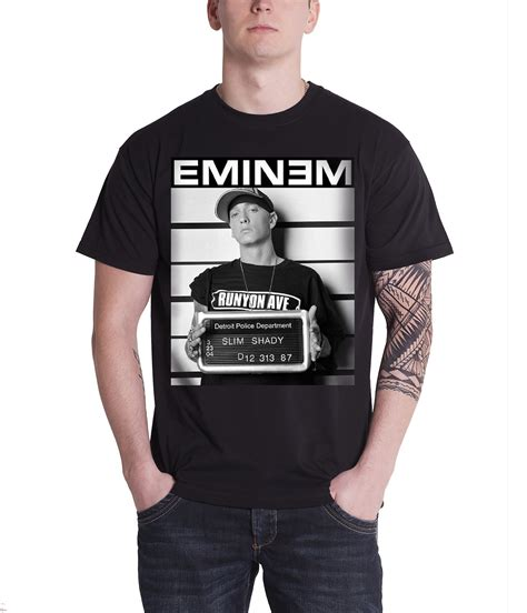 tshirt marshal 01 bc eminem t shirt mens slim shady marshall mathers arrest
