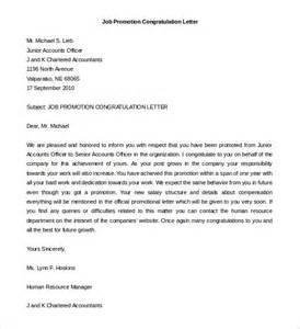 exle cover letter for promotions job