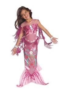 Pink mermaid costume child party britain fancy dress