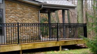 Patio Rails by Railing Amp Patio Enclosures Mills Fence Co