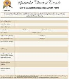 membership templates sle church membership form template excel templates