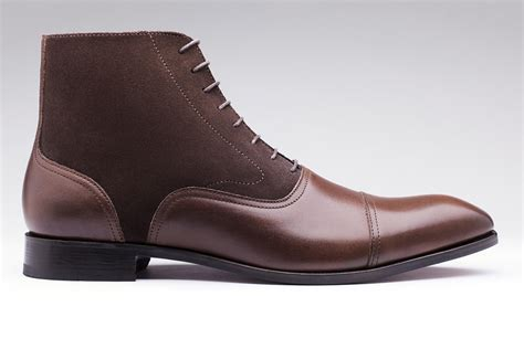 Mens Handmade Boots - s handmade brown ankle high boot dress leather
