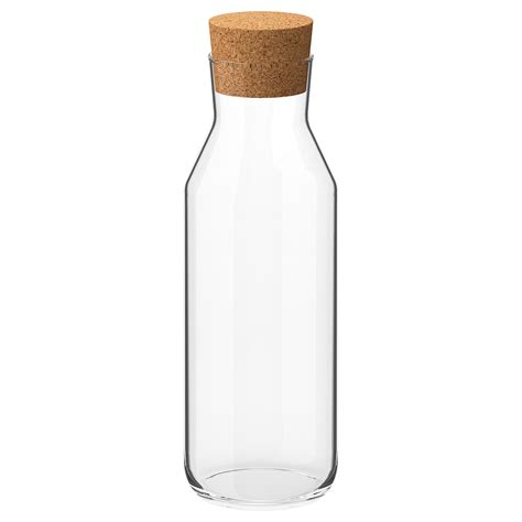 ikea  carafe  stopper clear glass cork ikea
