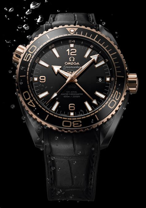 omega seamaster planet gmt black watches in