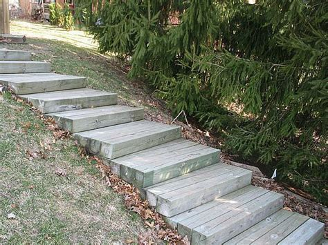 Landscape Timbers Steps 26 Best Images About Timber Stairs On