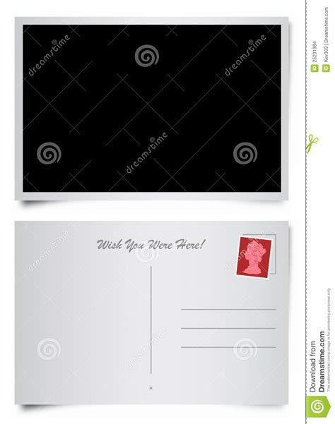 postcard template front and back front and back of postcard stock images image 25231984