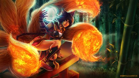 mozilla firefox themes league of legends firefox ahri skin 2c wallpaper hd