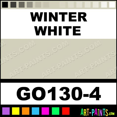 winter white gallery opaque ceramic paints go130 4 winter white paint winter white color