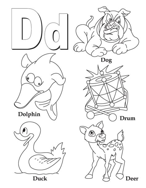 Letter D Coloring Page coloring pages for letter quot d quot coloring pages for