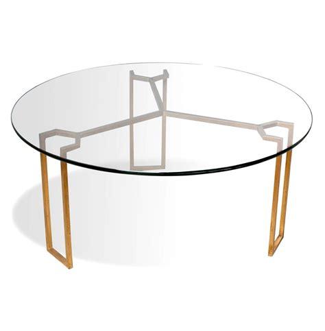 triad modern geometric gold leaf coffee table