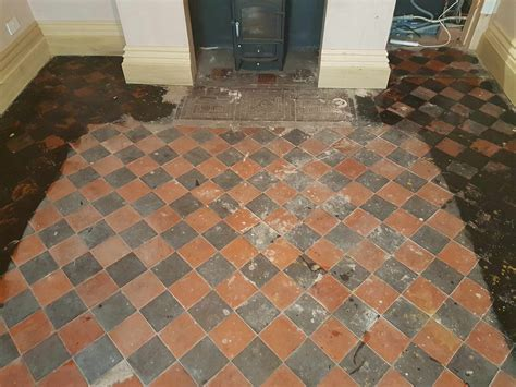 Black and Red Quarry Tile Renovation in Whaley Bridge