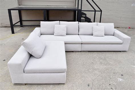 len grau minotti quot quot three sectional sofa by rodolfo
