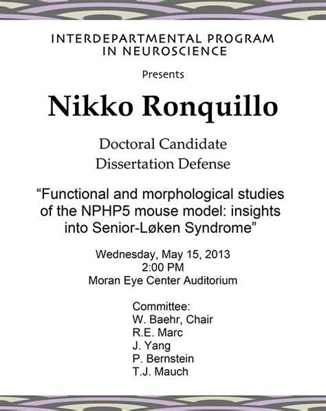 Doctoral Dissertation by Doctoral Dissertation Defense Nikko Ronquillo Webvision