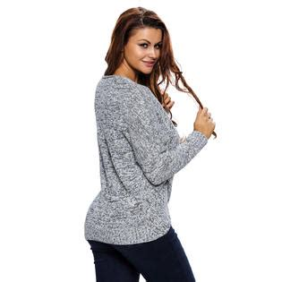 Best Seller Sweater Jaket Trendy O Neck Blur Choco cali chic junior s cardigan sweater sleeve chunky cross wrap v neck tunic pullover top big