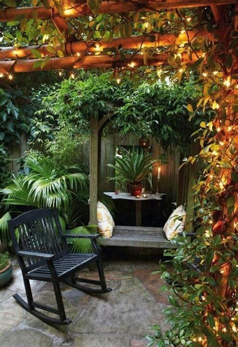 Small Garden Lighting Ideas Cozy Garden Small Garden Ideas Pinterest Gardens Beautiful And Nooks