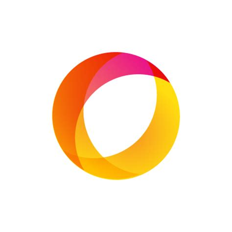 moving color circle logo template 100 vector