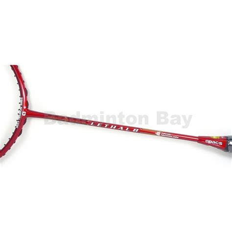 Raket Apacs Lethla 6 Racket Only out of stock apacs lethal 8 silver 4u badminton racket