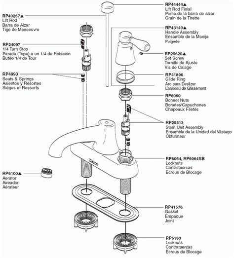 delta kitchen faucet parts diagram delta faucet repair parts diagram automotive parts
