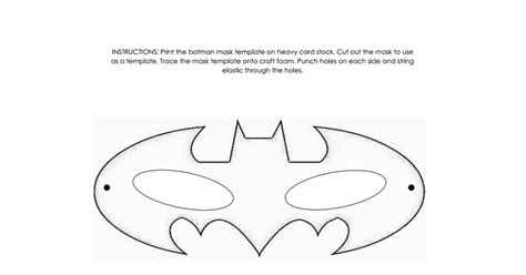 batman mask template batman mask template pdf batman