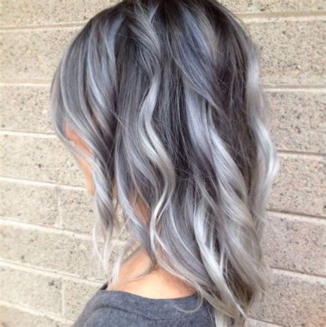 silver highlighted hair styles silver highlights for gray hair dark brown hairs