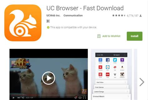 browsers for android uc browser for android hp android
