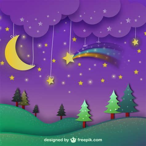 imagenes infantiles gratuitas paisaje nocturno con cielo p 250 rpura descargar vectores gratis