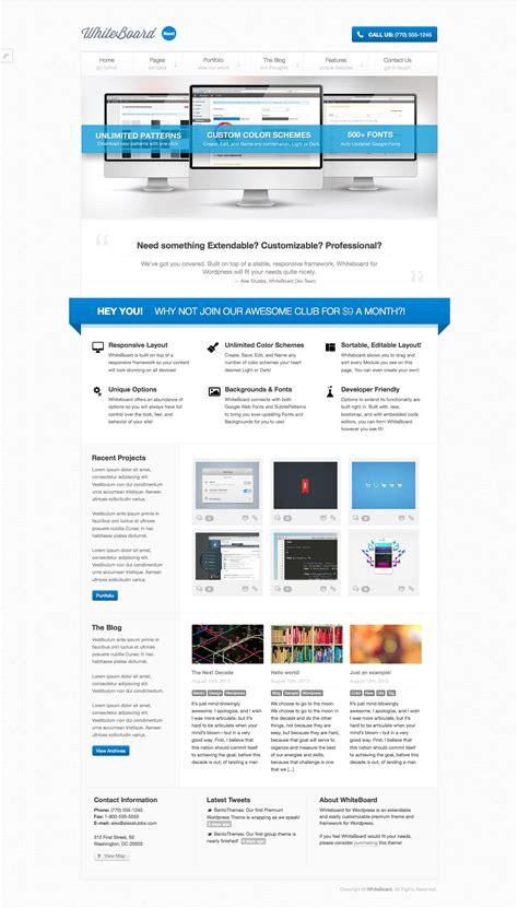 jekyll extend layout whiteboard wordpress theme by bentothemes themeforest