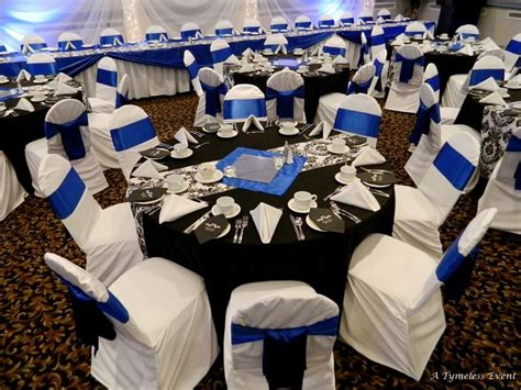 black white silver royal blue wedding black tablecloths damask runners royal blue squares