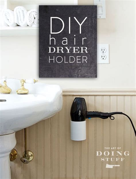 a diy hairdryer stand or holder in 4 easy steps for 10